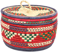 African Basket - Nubian - Canister - 11 Inches Across - #95297