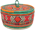 African Basket - Nubian - Canister - 11 Inches Across - #95298