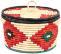 African Basket - Nubian - Canister - 11 Inches Across - #95299