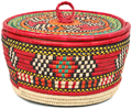 African Basket - Nubian - Canister - 11 Inches Across - #95300