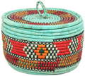 African Basket - Nubian - Canister - 11 Inches Across - #95301