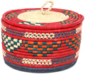 African Basket - Nubian - Canister - 11 Inches Across - #95302