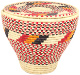 African Basket - Nubian - Tapered Cargo Canister - 15 Inches Across - #95305