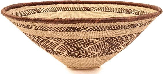 African Basket - Tonga - Zimbabwe Binga Bowl - 17 Inches Across - #38718