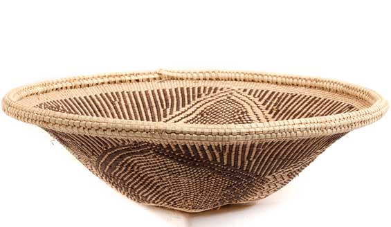 African Basket - Tonga - Zimbabwe Binga Bowl - 10.5 Inches Across - #55443