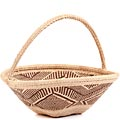 African Basket - Tonga - Zimbabwe Binga Gathering Basket - 11 Inches Across - #62408