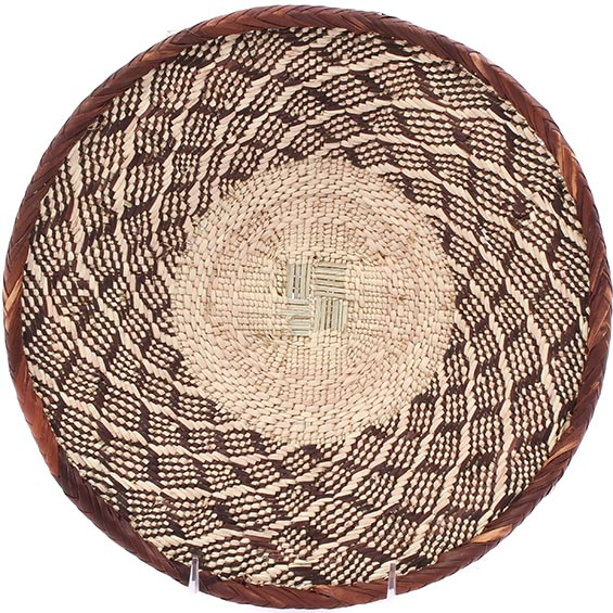 African Basket - Tonga - Zimbabwe Binga Basket - 11.5 Inches Across - #76266