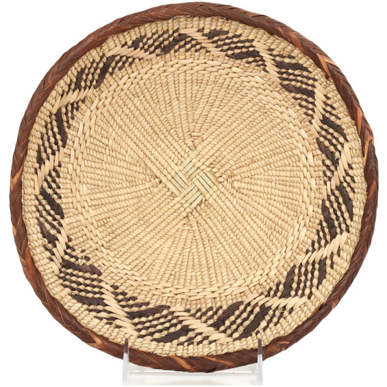 African Basket - Tonga - Zimbabwe Binga Basket - 10 Inches Across - #91947