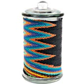 African Zulu Wire - Tall Wrapped Glass Jar - #24135
