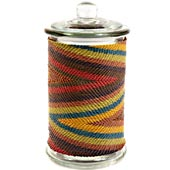 African Zulu Wire - Tall Wrapped Glass Jar - #24136