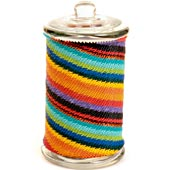 African Zulu Wire - Tall Wrapped Glass Jar - #4211