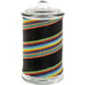 African Zulu Wire - Tall Wrapped Glass Jar - #7641