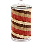 African Zulu Wire - Tall Wrapped Glass Jar - #7643