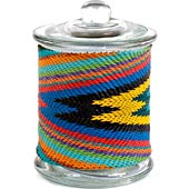 African Zulu Wire - Wrapped Glass Jar - #9976