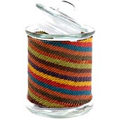 African Zulu Wire - Wrapped Glass Jar - #9977