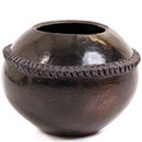 African Pottery - Zulu Amancishane Pot - 3 Inches Across - #54918