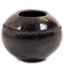 African Pottery - Zulu Amancishane Pot - 3 Inches Across - #54922