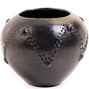 African Pottery - Zulu Amancishane Pot - 4 Inches Across - #54927