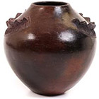African Pottery - Zulu Amancishane Pot - 4.5 Inches Across - #54977