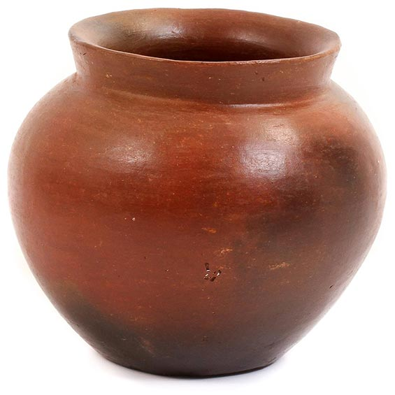 African Pottery - Small Botswana Pot - 4 Inches Across - #55274