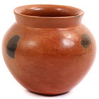 African Pottery - Medium Botswana Pot - 5 Inches Across - #55277