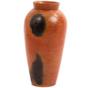 African Pottery - Tall Vase - 10.25 Inches Tall - #55305