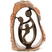 Shona Stone Sculpture - 12.75 Inches Tall - #SS024