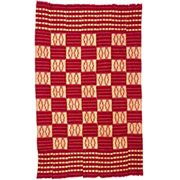 Handmade African Textile - Kente Cloth - 39 Inches Wide x 63 Inches Tall - #7677