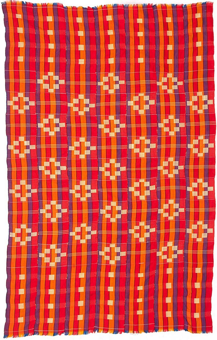 Handmade African Textile - Kente Cloth - 40 Inches Wide x 62 Inches Tall - #7698