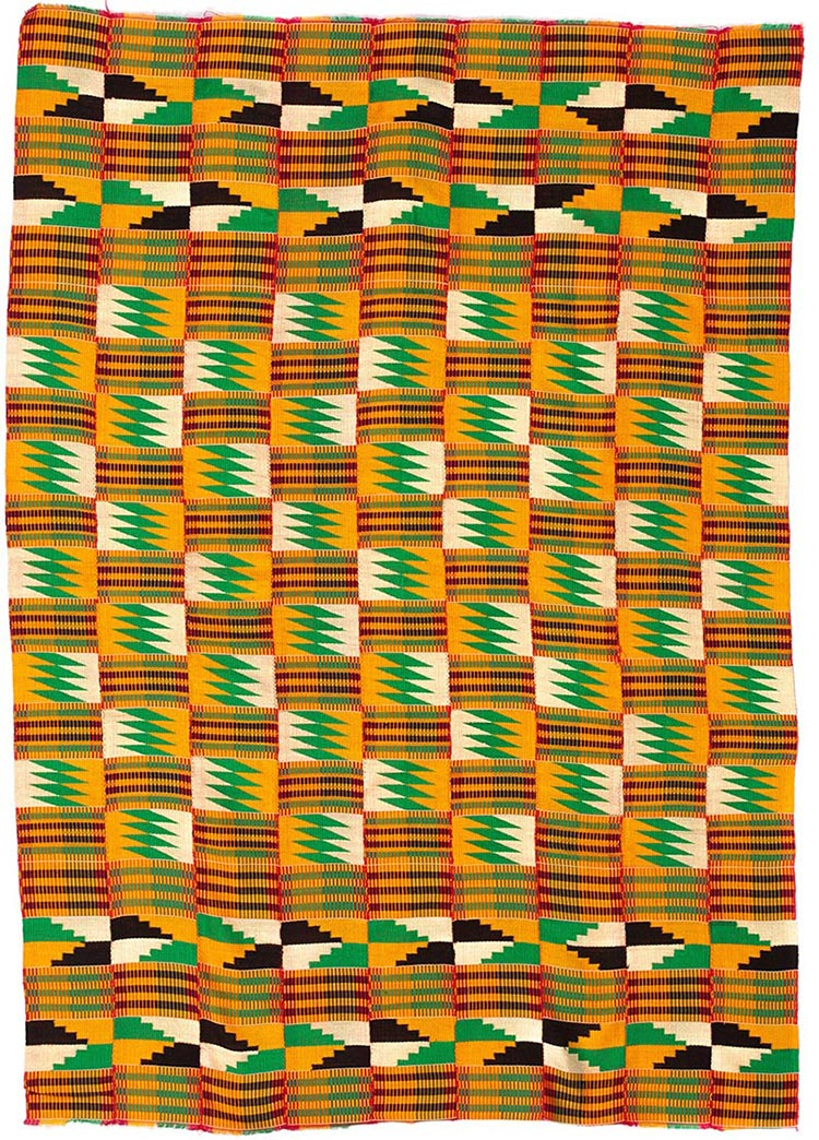 Handmade African Textile - Kente Cloth - 38 Inches Wide x 56 Inches Tall - #7725