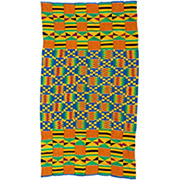 Handmade African Textile - Kente Cloth - 35 Inches Wide x 63 Inches Tall - #7742
