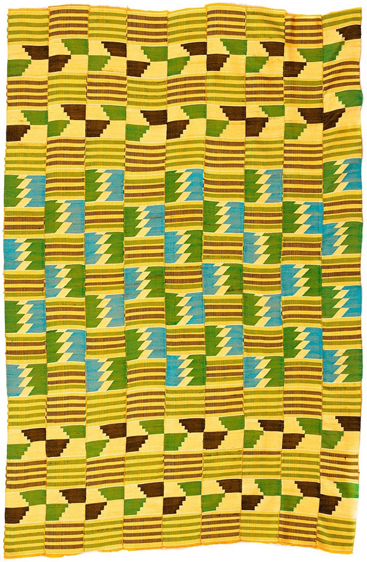 Handmade African Textile - Kente Cloth - 39 Inches Wide x 61 Inches Tall - #7749