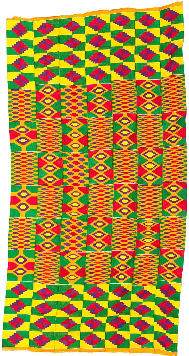 Handmade African Textile - Kente Cloth - 32 Inches Wide x 63 Inches Tall - #7753
