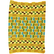 Handmade African Textile - Kente Cloth - 43 Inches Wide x 65 Inches Tall - #7755