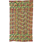 Handmade African Textile - Kente Cloth - 35 Inches Wide x 65 Inches Tall - #7761