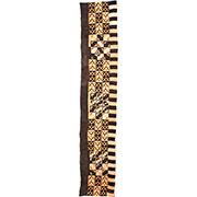 Handmade African Textile - Kuba Cloth - 27 Inches Wide x 147 Inches Tall - #7841