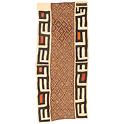 Handmade African Textile - Kuba Cloth - 24.5 Inches Wide x 53.5 Inches Tall - #7876