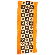 Handmade African Textile - Kuba Cloth - 24 Inches Wide x 63 Inches Tall - #7884
