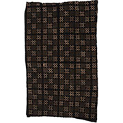 Handmade African Textile - Mud Cloth - 48 Inches Wide x 72 Inches Tall - #7779