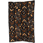 Handmade African Textile - Mud Cloth - 48 Inches Wide x 72 Inches Tall - #7814
