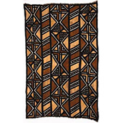 Handmade African Textile - Mud Cloth - 48 Inches Wide x 72 Inches Tall - #7825