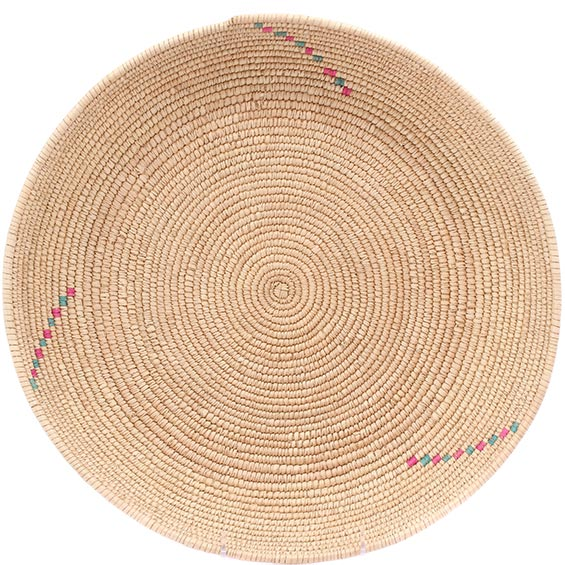 African Basket - Tuareg Winnowing Tray - 14.75 Inches Across - #78299