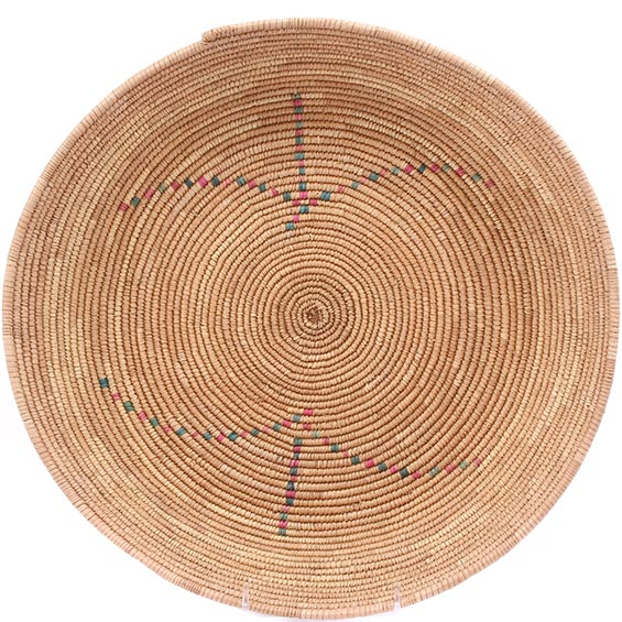 African Basket - Tuareg Winnowing Tray - 15 Inches Across - #78302