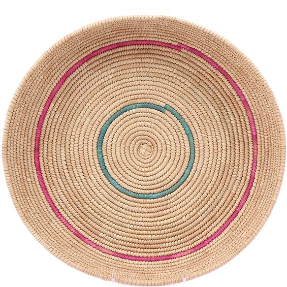 African Basket - Tuareg Winnowing Tray - 14.5 Inches Across - #78307