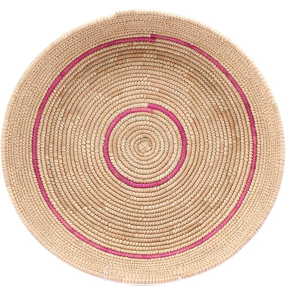 African Basket - Tuareg Winnowing Tray - 14 Inches Across - #78309