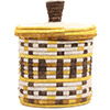 African Basket - Burundi Sisal Coil Weave Canister - 7.5 Inches Tall - #72082