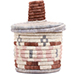 African Basket - Burundi Sisal Coil Weave Canister - 6 Inches Tall - #72112