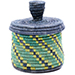 African Basket - Burundi Sisal Coil Weave Canister - 5 Inches Tall - #76470
