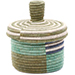 African Basket - Burundi Sisal Coil Weave Canister - 4.75 Inches Tall - #76472
