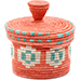 African Basket - Burundi Sisal Coil Weave Canister - 4.75 Inches Tall - #76475